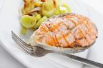 Mediterranean Salmon with Sautéed Leek