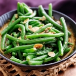 Weight Loss Recipe: Sesame Ginger Green Beans  with Sliced Almonds