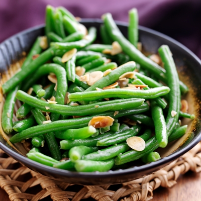 weight loss recipe sesame ginger green beans with sliced almonds slimquick official site. Black Bedroom Furniture Sets. Home Design Ideas