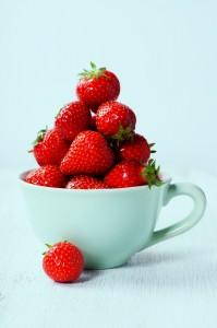 S strawberries in a mug