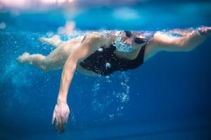 S women swimming in pool