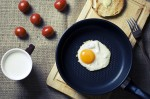 Fried Egg with Mediterranean Roasted Broccoli & Cherry Tomatoes