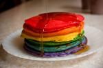 Rainbow Holiday Pancakes