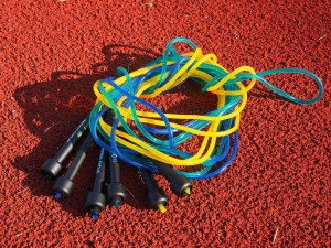 jump rope knotted