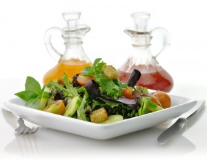 salad with 2 dressings medium