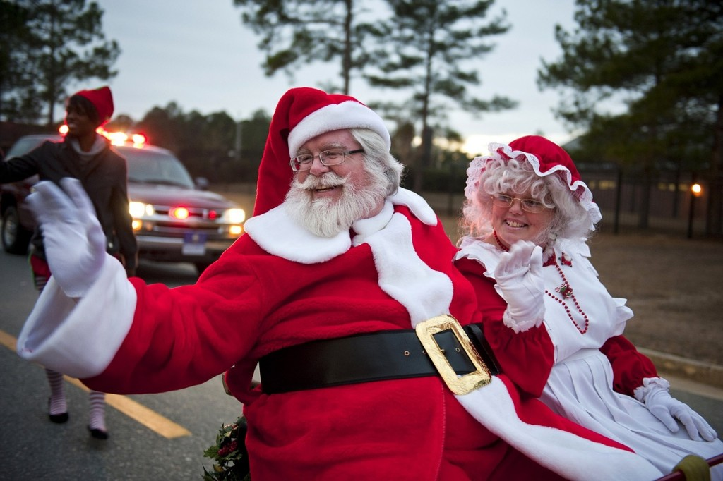 Mr. and Mrs. Claus at a recent parade