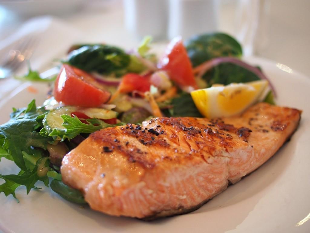 salmon and argula